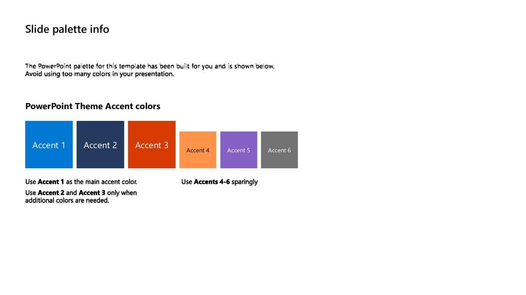 Slide palette info PowerPoint Theme Accent colo...