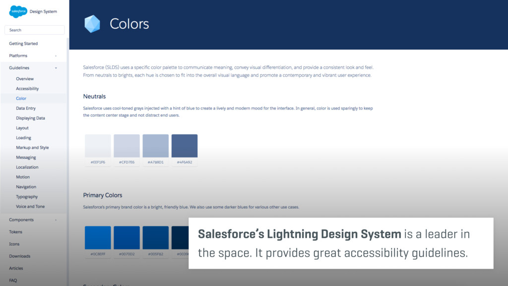 Salesforce's Lightning Design System is a leade...