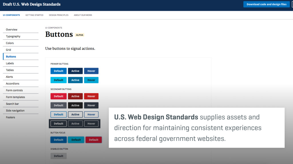 U.S. Web Design Standards supplies assets and d...