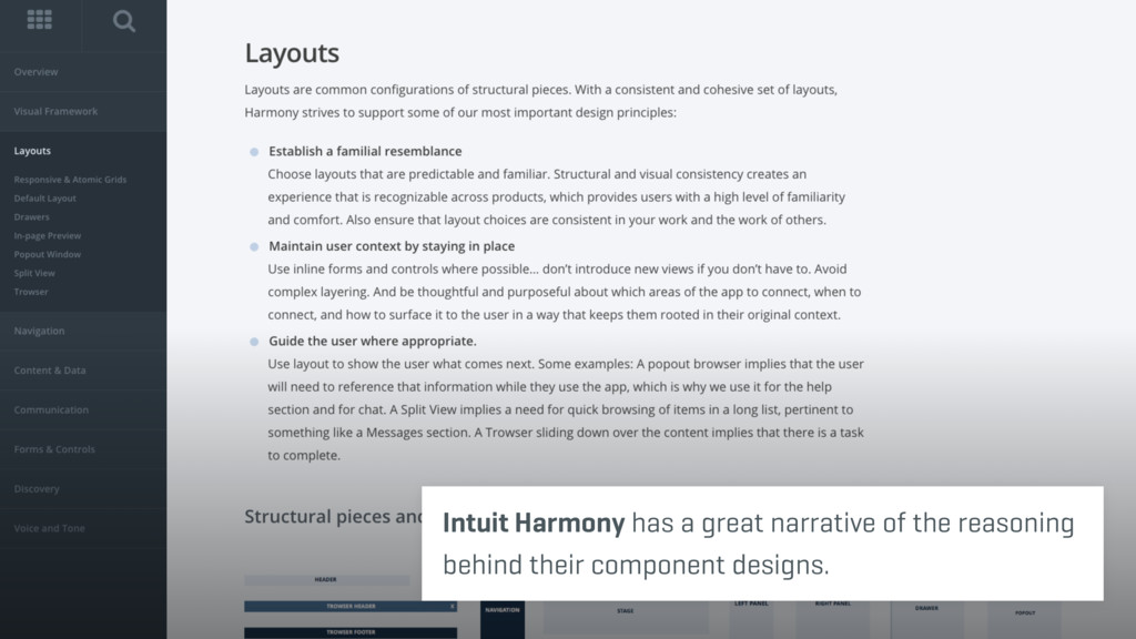 Intuit Harmony has a great narrative of the rea...
