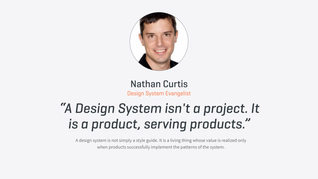 """A Design System isn't a project. It is a produ..."