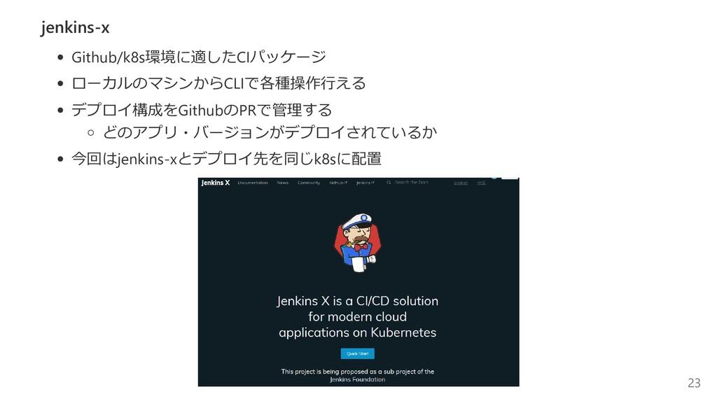 jenkins‐x Github/k8s環境に適したCIパッケージ ローカルのマシンからCLI...