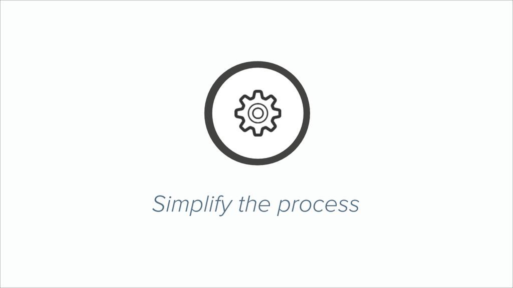Simplify the process X Y Z