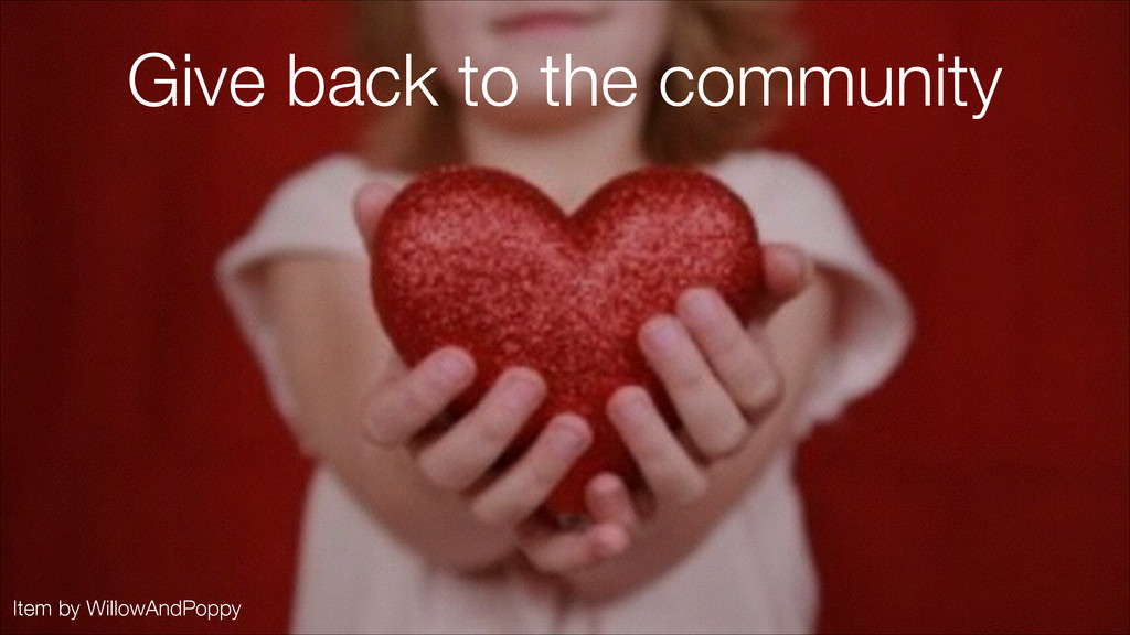 Item by WillowAndPoppy Give back to the communi...