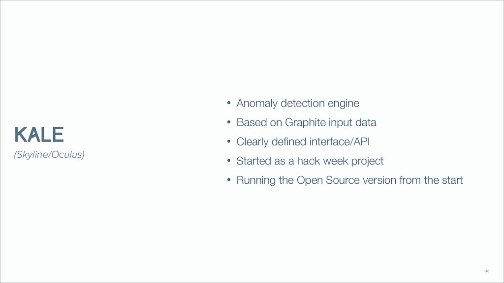 • Anomaly detection engine • Based on Graphite ...