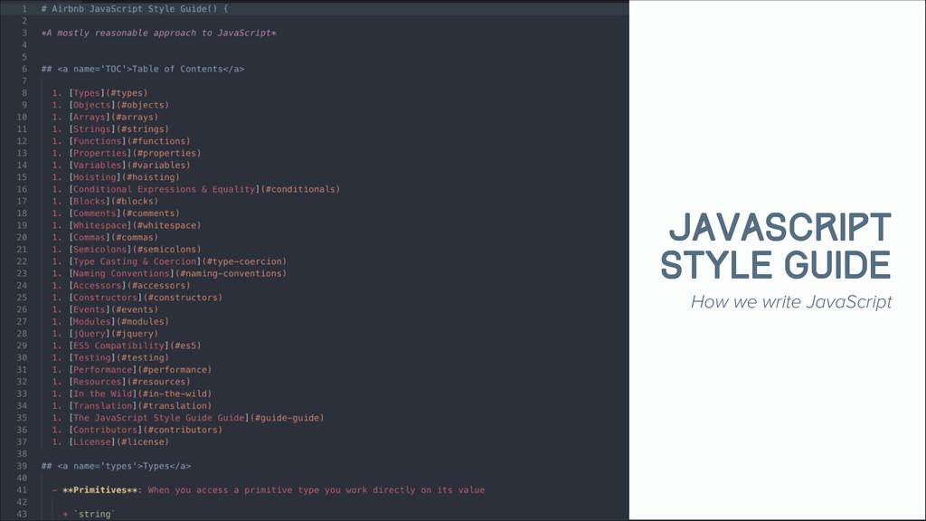 Chronos JavaScript Style Guide How we write Jav...