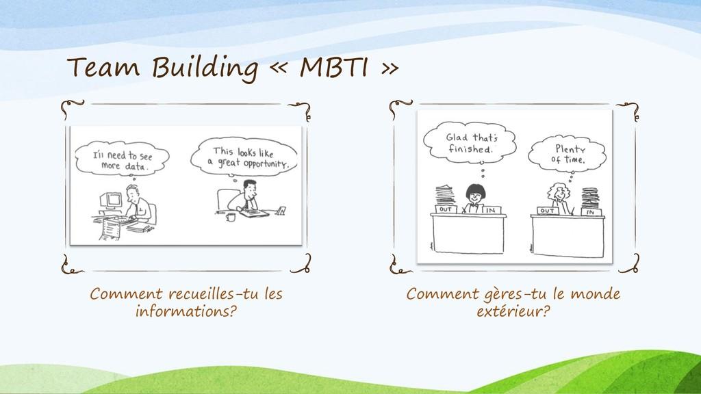 Team Building « MBTI » Comment recueilles-tu le...