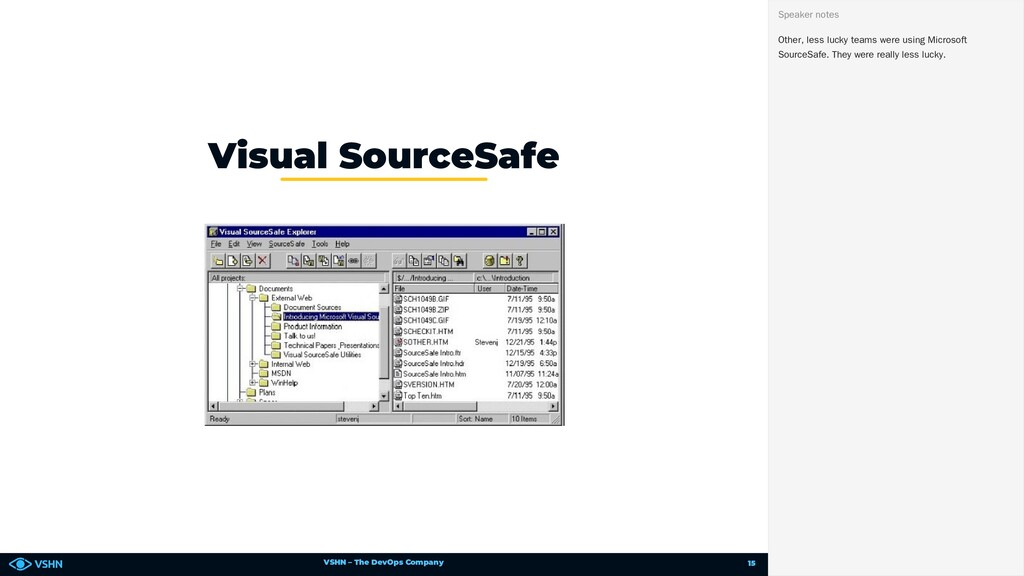VSHN – The DevOps Company Visual SourceSafe Oth...