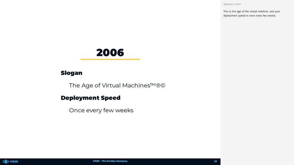 VSHN – The DevOps Company Slogan The Age of Vir...