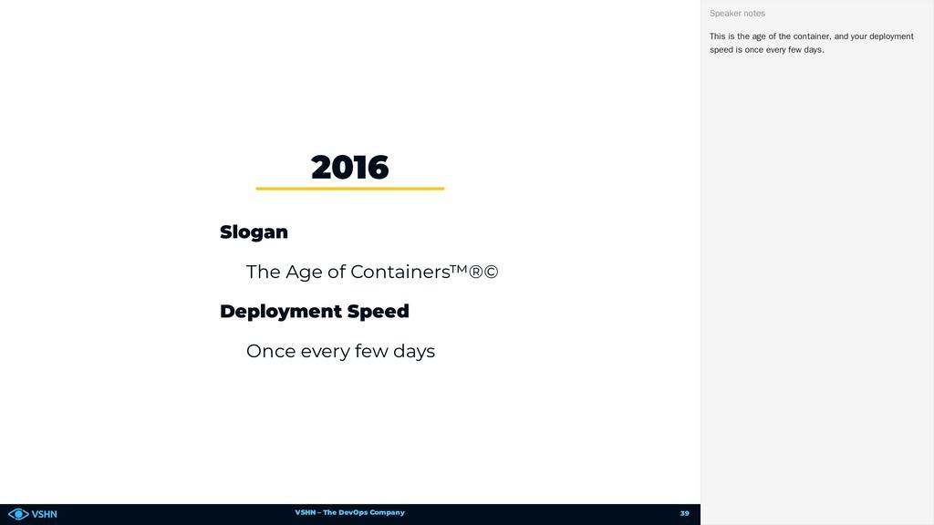VSHN – The DevOps Company Slogan The Age of Con...