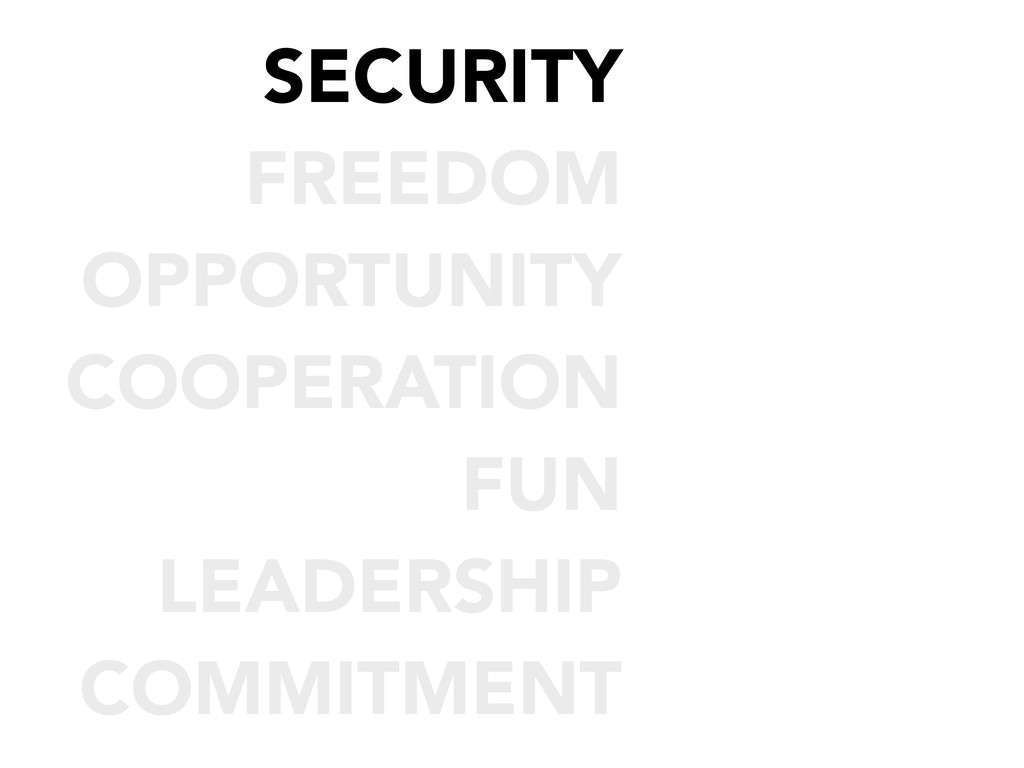 SECURITY FREEDOM OPPORTUNITY COOPERATION FUN LE...