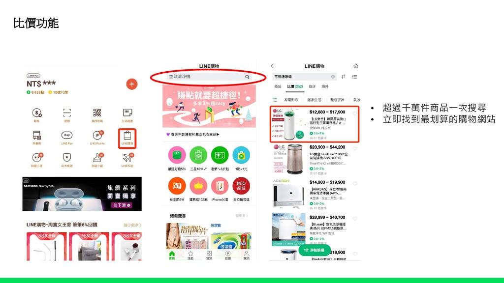 比價功能 • 超過千萬件商品一次搜尋 • 立即找到最划算的購物網站 空氣清淨機