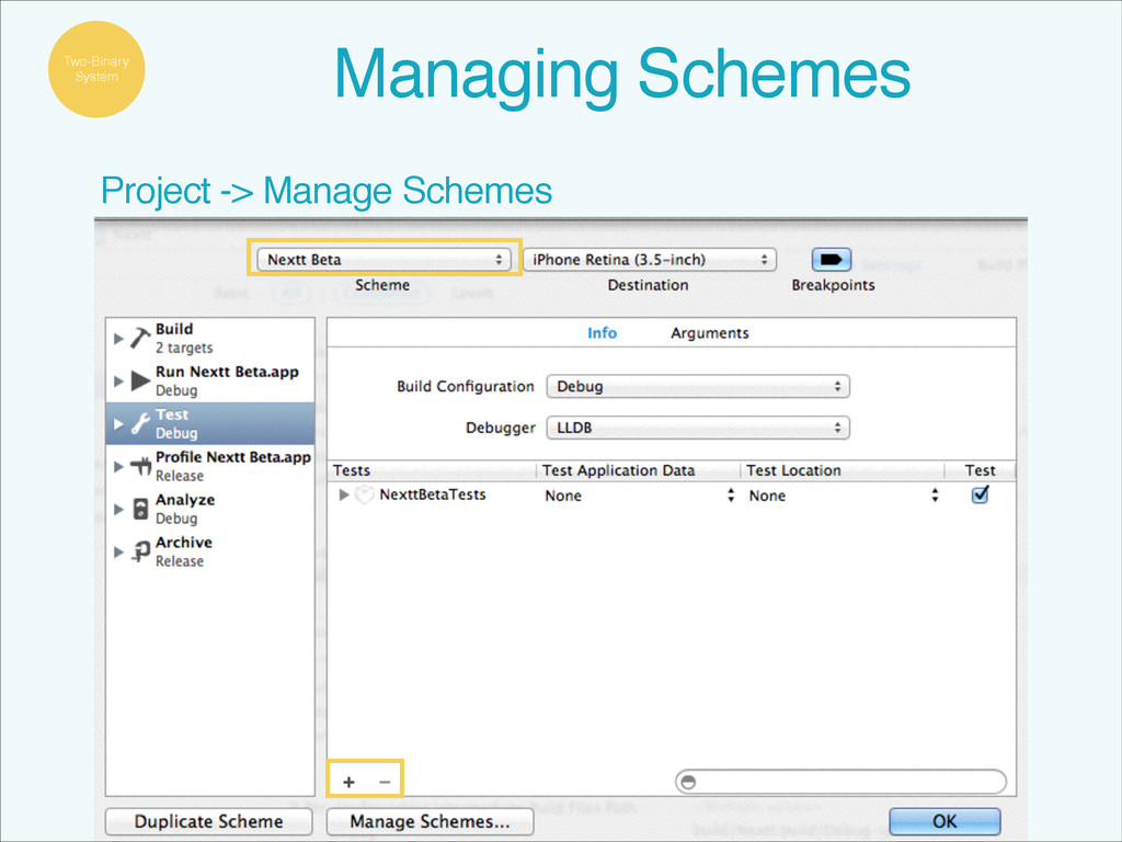Project -> Manage Schemes Two-Binary System Man...