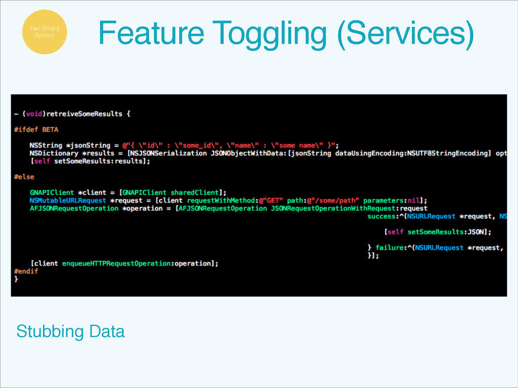 Stubbing Data Feature Toggling (Services) Two-B...