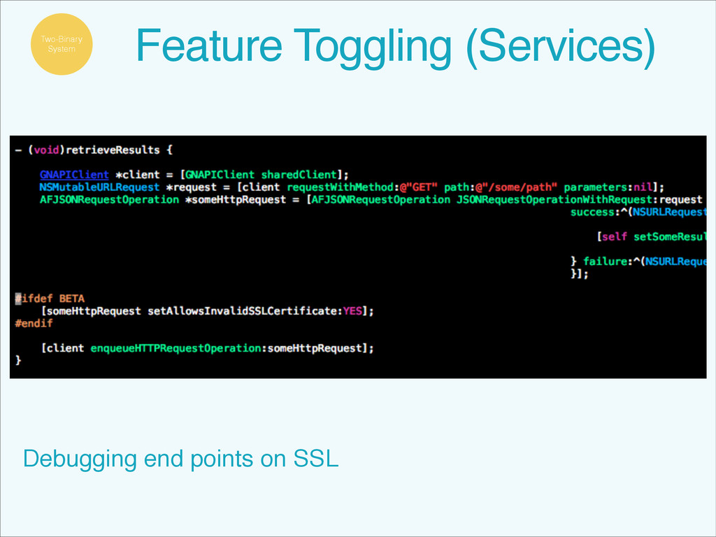 Debugging end points on SSL Feature Toggling (S...