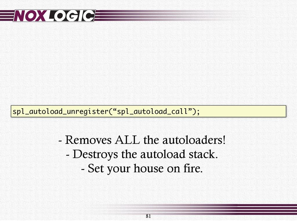 """81 spl_autoload_unregister(""""spl_autoload_call"""")..."""