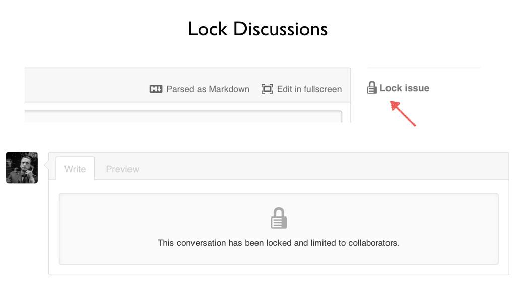 Lock Discussions