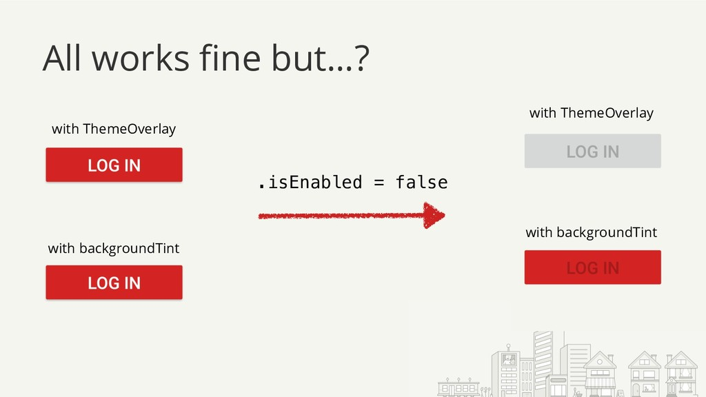All works fine but…? .isEnabled = false with Th...
