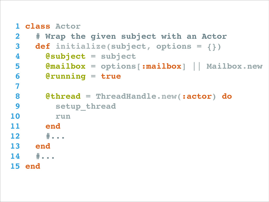 1 class Actor! 2 # Wrap the given subject with ...