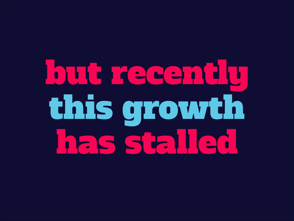 but recently this growth has stalled