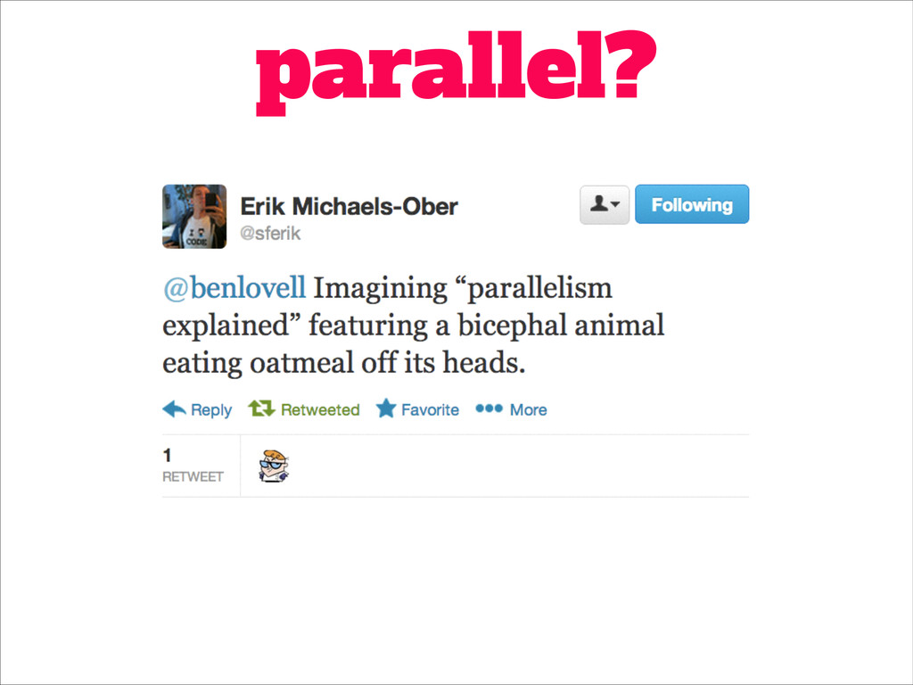 parallel?