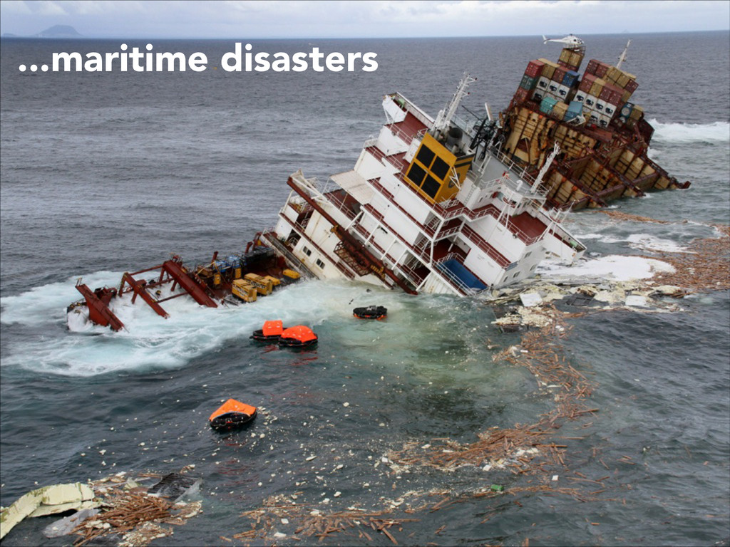 ...maritime disasters