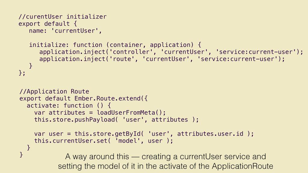 //Application Route export default Ember.Route....