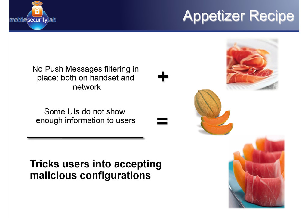 Appetizer Recipe No Push Messages filtering in ...