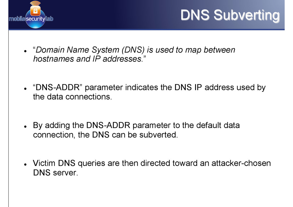 """DNS Subverting l """"Domain Name System (DNS) is..."""