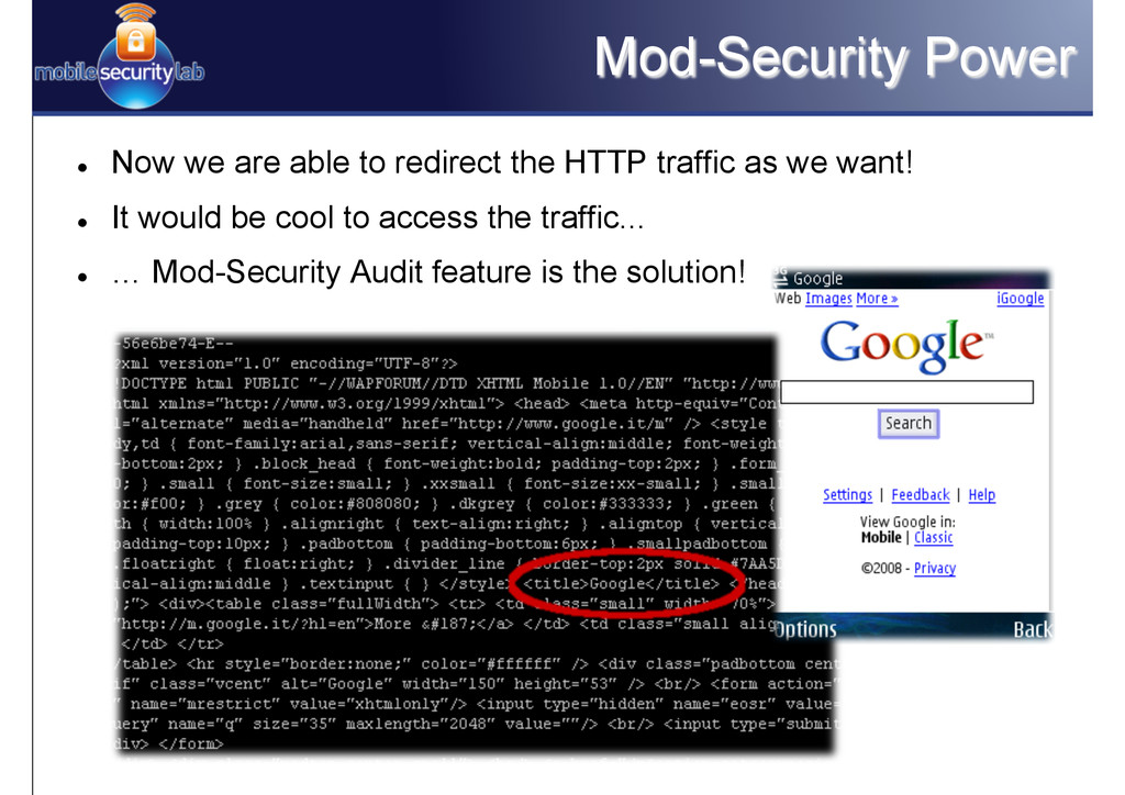 Mod-Security Power l Now we are able to redir...