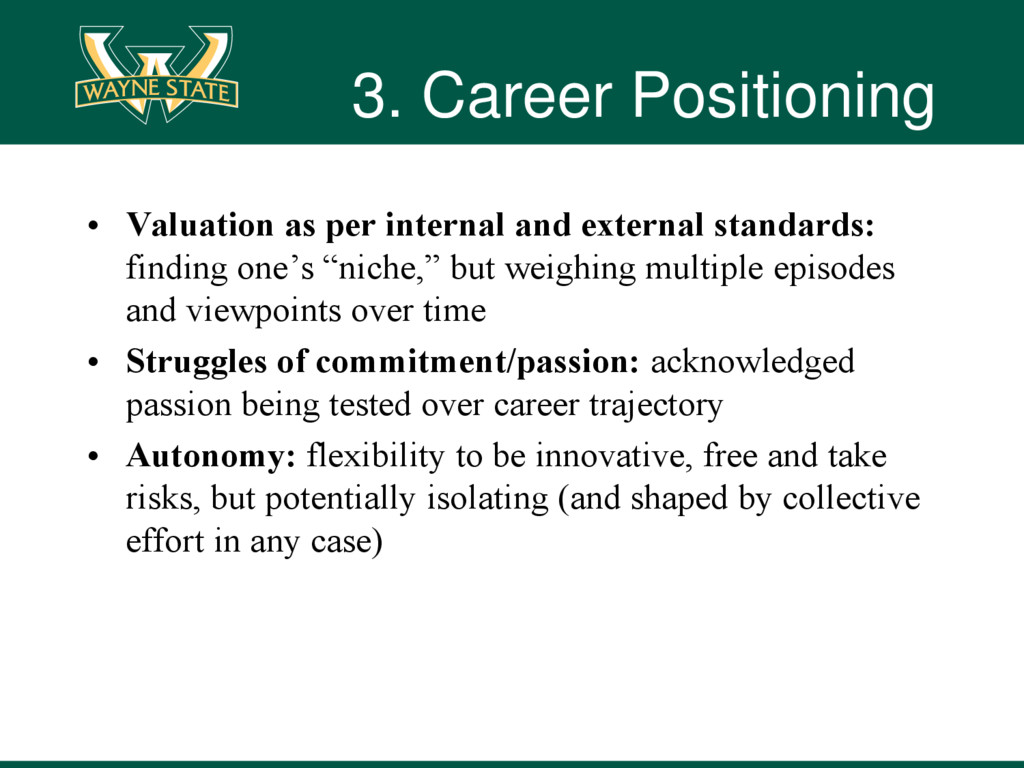3. Career Positioning • Valuation as per intern...