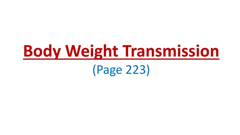 Body Weight Transmission (Page 223)