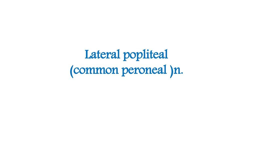 Lateral popliteal (common peroneal )n.