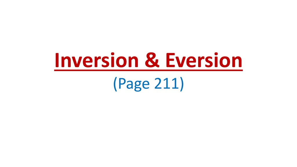 Inversion & Eversion (Page 211)