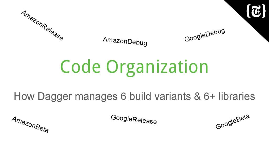 Code Organization How Dagger manages 6 build va...