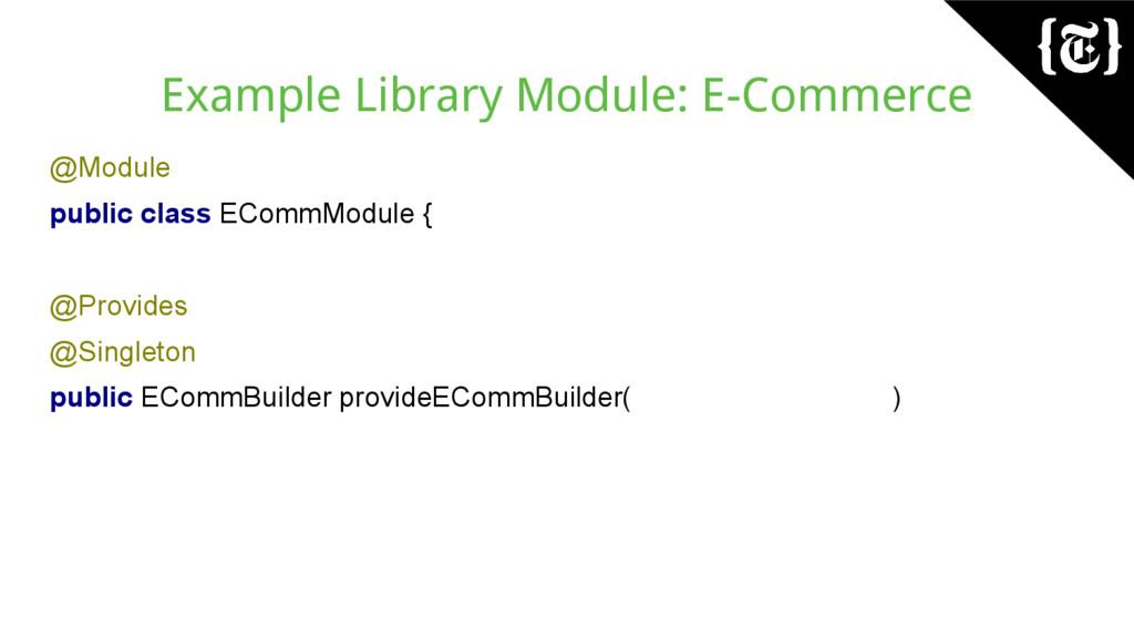 Example Library Module: E-Commerce @Module publ...