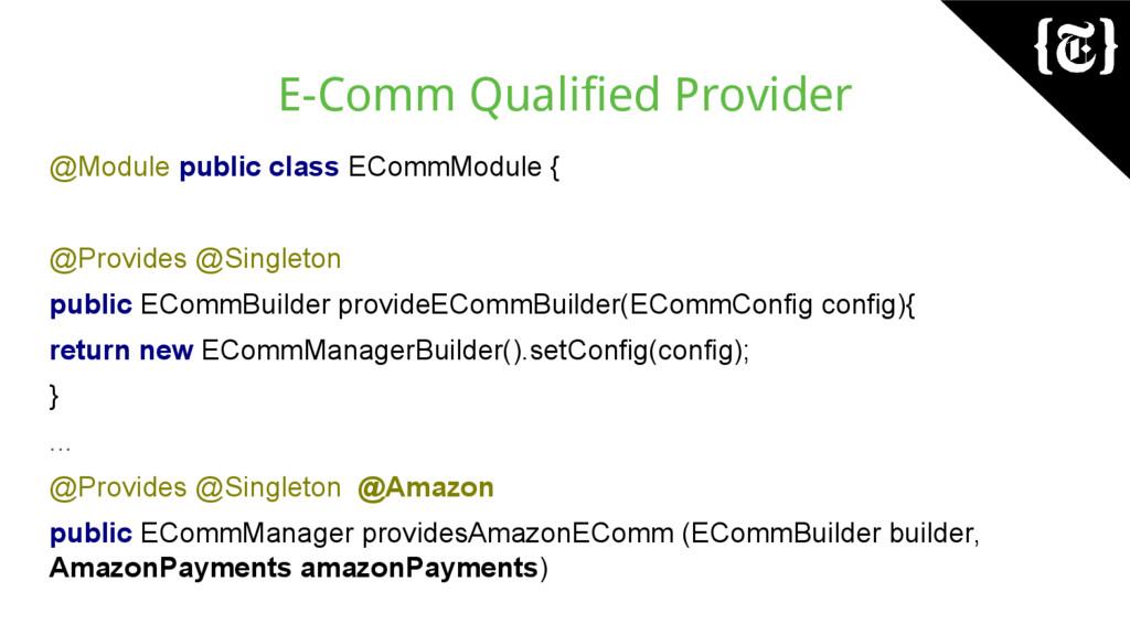 E-Comm Qualified Provider @Module public class ...