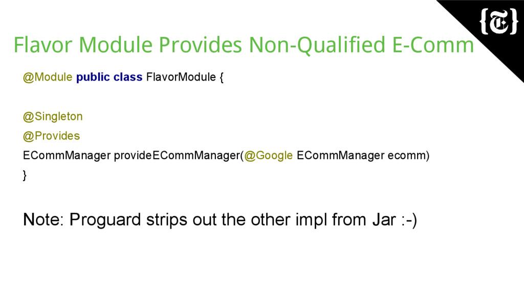 Flavor Module Provides Non-Qualified E-Comm @Mo...