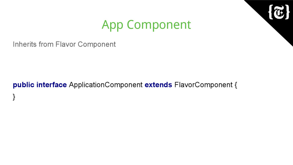 App Component Inherits from Flavor Component pu...