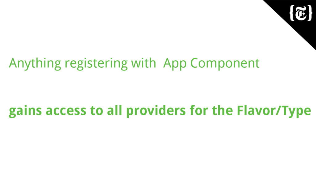 Anything registering with App Component gains a...