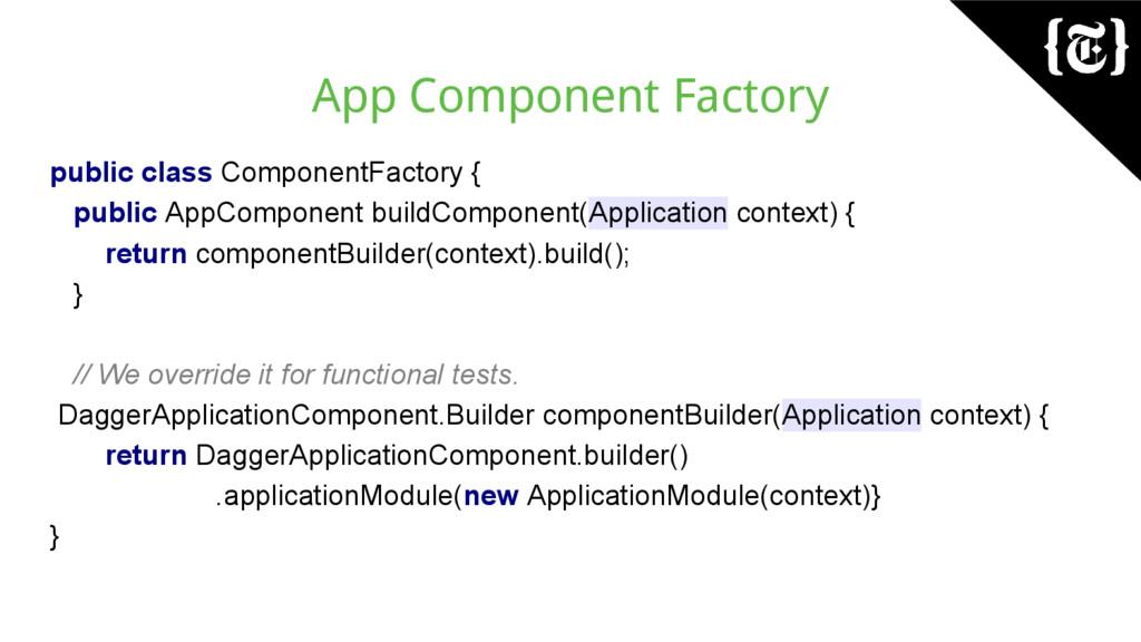 App Component Factory public class ComponentFac...