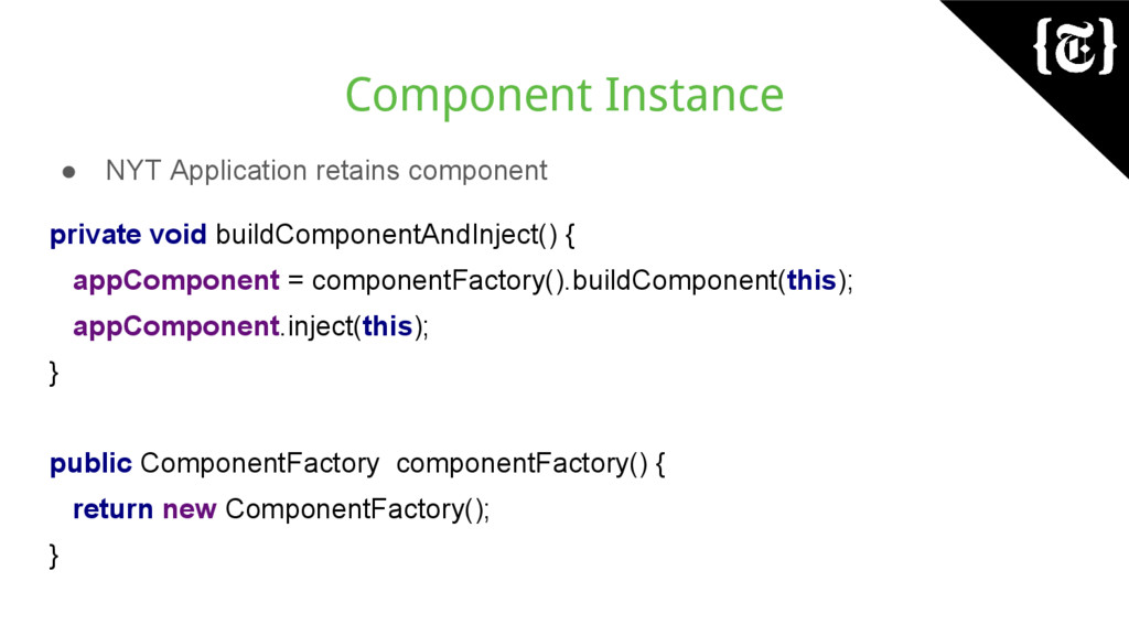 Component Instance ● NYT Application retains co...