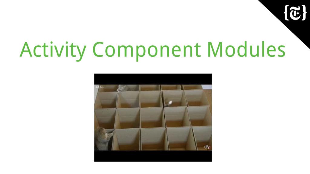 Activity Component Modules