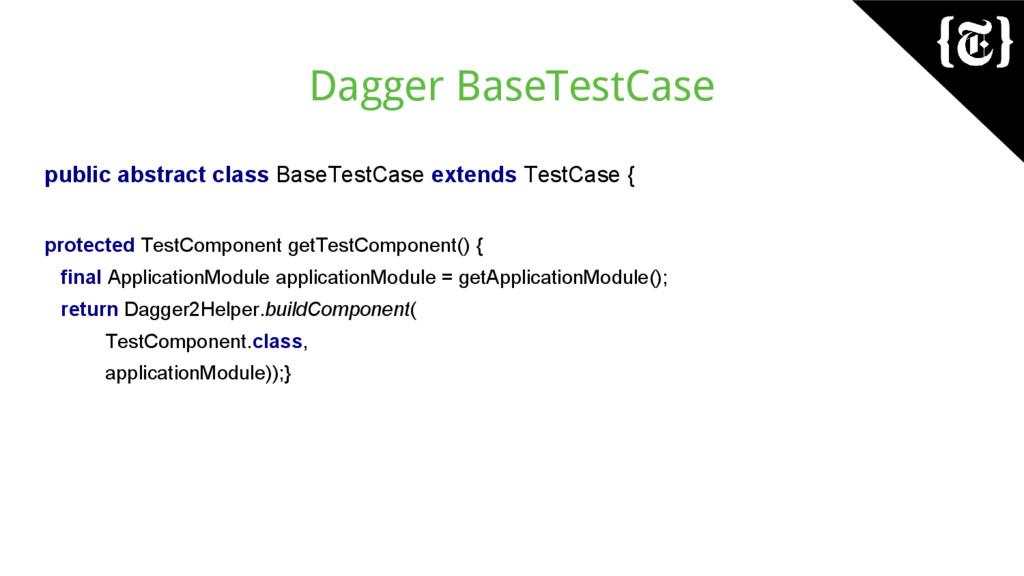 Dagger BaseTestCase public abstract class BaseT...
