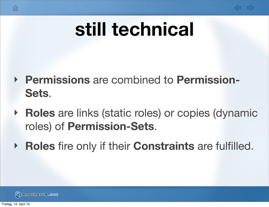 still technical ‣ Permissions are combined to P...