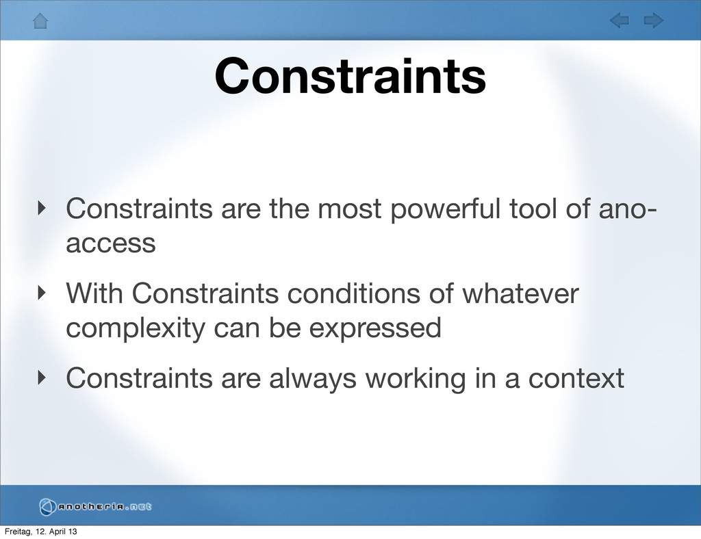 Constraints ‣ Constraints are the most powerful...