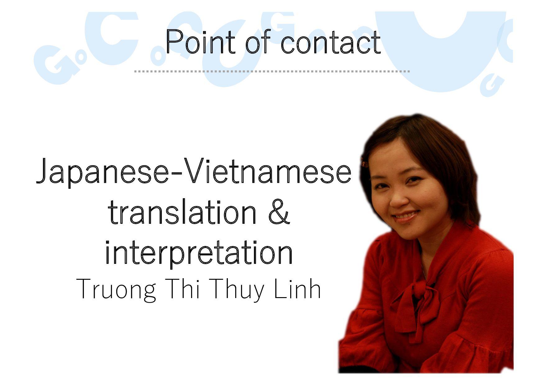 Point of contact Japanese-Vietnamese translatio...