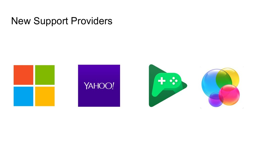 New Support Providers