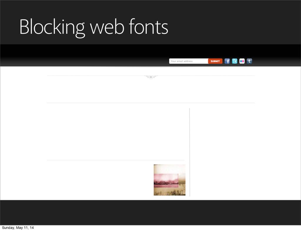 Blocking web fonts Sunday, May 11, 14