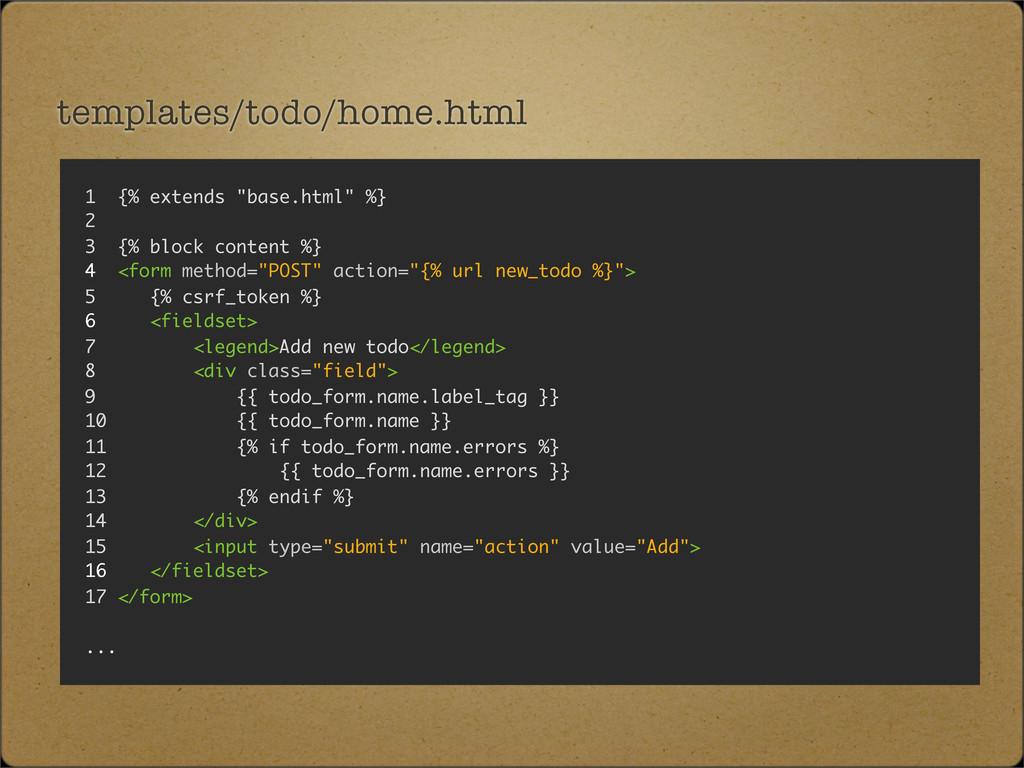 """templates/todo/home.html 1 {% extends """"base.htm..."""